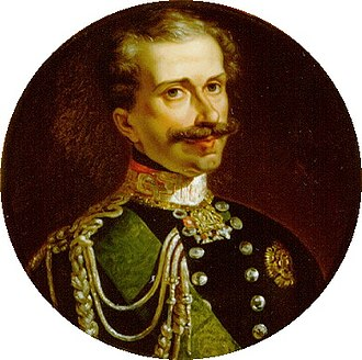 First Italian War of Independence - King Charles Albert of Sardinia, who declared war on Austria on 23 March 1848.