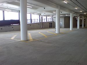 Undercroft - Modern parking undercroft under a cinema.
