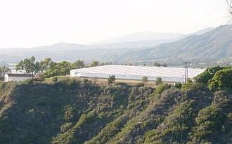 Calcite rafts -  Carpinteria Reservoir with rigid aluminium cover