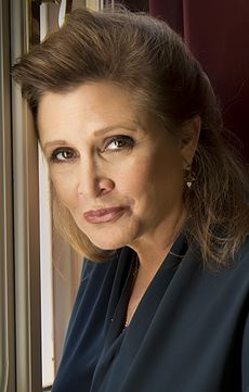 Carrie Fisher (1956-2016), interprète de Leia Organa.