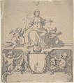 Cartouche with a Crown, the Virgin (?) and the Holy Ghost, and Four Putti MET DP810453.jpg
