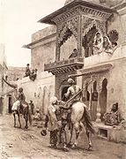 Cashmere Travellers in a Street of Delhi