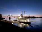 Casino Boat on the Mississippi River, Natchez, Mississippi, 04101u.tif