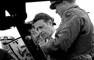 Caspar Weinberger - Caspar Weinberger inspecting new hardware, Fort Lewis, Washington on April 22, 1983