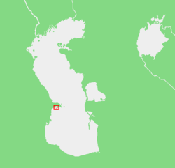 Map showing the location of the Baku Archipelago.