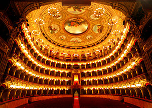 Teatro Massimo Bellini - Interior of the Teatro Massimo Bellini