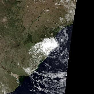 Hurricane Catarina - Hurricane Catarina at landfall