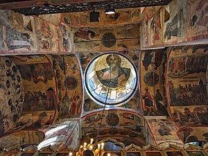 Cathedral of the Annunciation, Moscow - Example of the murals which decorate the cathedral's ceiling.