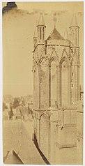 Photographie de la restauration de la tour nord de la cathédrale de Poitiers