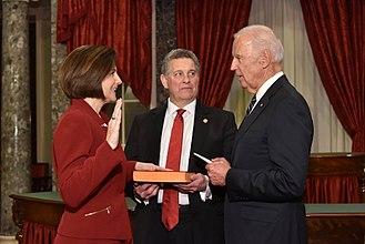 Catherine Cortez Masto - Catherine Cortez Masto being sworn-in as U.S. Senator by Vice President Joe Biden.