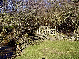 River Cover - Image: Caygill footbridge over the River Cover geograph.org.uk 345288