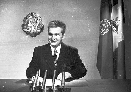 Nicolae Ceausescu ruled Romania as its Communist leader from 1965 until 1989. Ceausescu Anul Nou.jpg