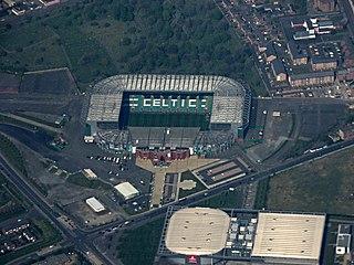 Celtic Park Football stadium in Glasgow, Scotland