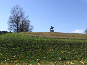 Cemetery Hill - Cemetery Hill, with a statue of General Howard at the top.