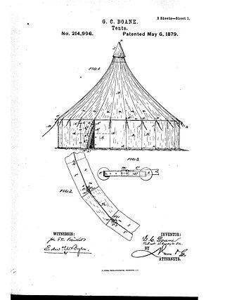 Gustavus Cheyney Doane - Centennial Tent Patent Image, May 6, 1879