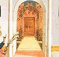 Central door in the Annunciation by Domenico Veneziano, Fitzwilliam Museum, Cambridge (cropped).jpg