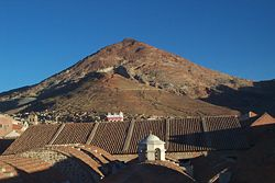 View of Rich Hill (Cerro Rico) and National Mint