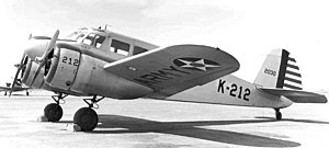 Mather Air Force Base - A Cessna AT-17 Bobcat at the base, 9 May 1942