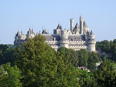 The Chateau de Pierrefonds in northern France was used for filming Camelot scenes Chateau de Pierrefonds vu depuis le Parc.jpg