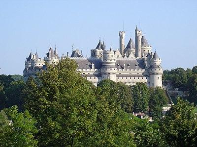 Château de Pierrefonds vu depuis le Parc
