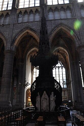 Le génie du mal - The pulpit in a 2009 photograph