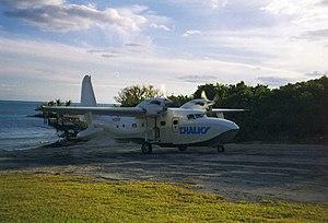 Grumman G-73 Mallard - Chalk's Turbo Mallard at Abaco, 1999