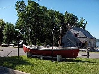 Île d'Orléans - Parc Maritime Saint-Laurent: an old boat yard, now a tourist attraction.
