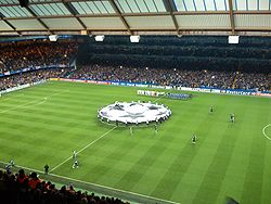 Champions league banner at Stamford bridge.jpg