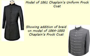 Religious symbolism in the United States military - Early army chaplain uniforms used the color black as a symbol of a ministerial presence, before corps insignia had been instituted