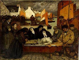 Charles Cottet - 1908–09 Au pays de la mer. Douleur also called Les victimes de la mer, the Musée d'Orsay.