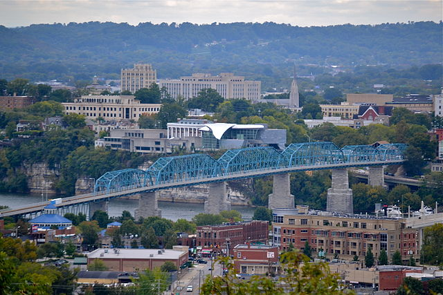 Chattanooga By Imilious [CC BY-SA 3.0  (https://creativecommons.org/licenses/by-sa/3.0)], from Wikimedia Commons
