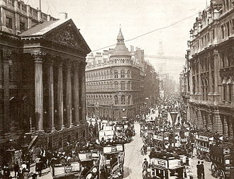 No 1 Poultry - Image: Cheapside Mansion House c 1902