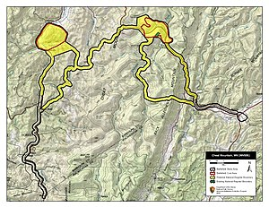 Battle of Cheat Mountain - Map of Cheat Mountain Battlefield core and study areas by the American Battlefield Protection Program.