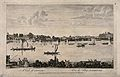 Chelsea; viewed from the Surrey bank with boats on the river Wellcome V0012959.jpg