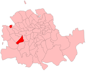 Chelsea (UK Parliament constituency) - Chelsea in London 1885-1918. The constituency had two detached parts: one in what is currently known as Chelsea and a separate part in Kensal Town
