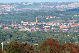 View of Chesterfield from Old Brampton