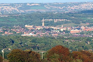 Chesterfield - View of Chesterfield from Old Brampton
