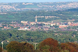 Chesterfield, Derbyshire Town and borough in England
