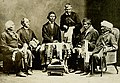 Chiefs of the Six Nations at Brantford, Canada, explaining their wampum belts to Horatio Hale September 14, 1871.jpg