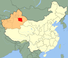 China Xinjiang Turpan.svg
