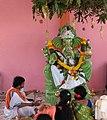 Chinalingala Vinayaka Chavithi 2018 Ganesh puja.jpg