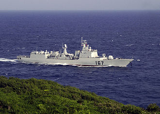 Type 051B destroyer - Image: Chinese destroyer Shenzhen DDG167