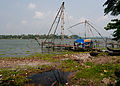 Chinese fishing nets in Kochi, Kerala.jpg