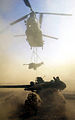 Chinook Delivers Artillery During Oman Exercise in 2001 MOD 45141714.jpg