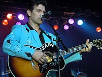 Chris Isaak at a USO show in Washington, D.C.