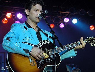 Chris Isaak - Isaak at a USO show in Washington, D.C.