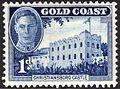 Christiansborg Castle on stamp of Gold Coast.jpg