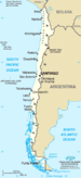 Map of Chile from CIA World Factbook. Category...