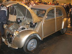 Radial tire - First car designed with radial tires standard from launch: 1948 Citroën 2CV