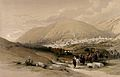 City of Nablus, formerly known as Shechem. Coloured lithogra Wellcome V0049419.jpg